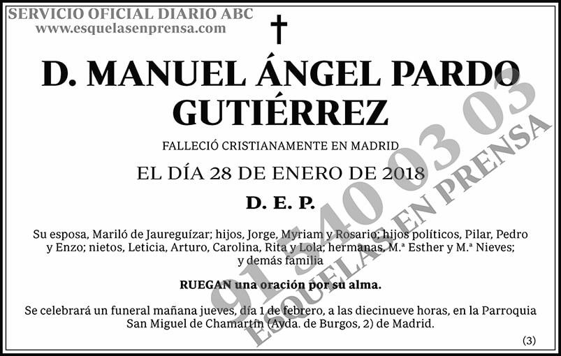 Manuel Ángel Pardo Gutiérrez